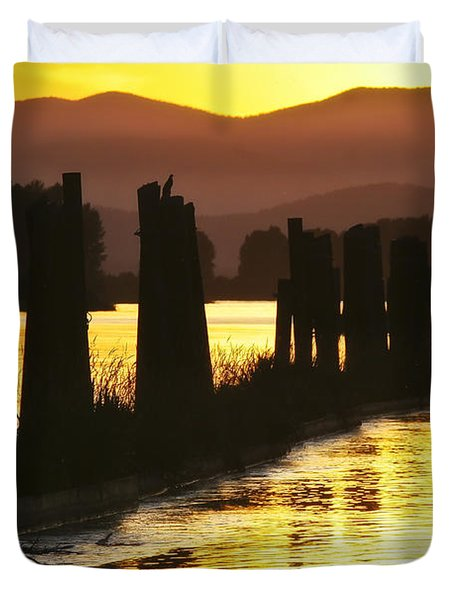 Duvet Cover featuring the photograph The Lost River Of Gold by Albert Seger