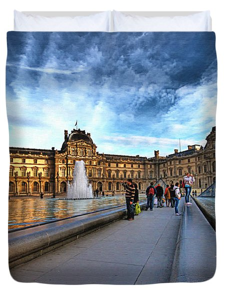 The Louvre Paris Duvet Cover by Charuhas Images