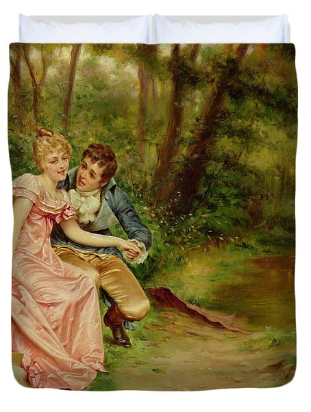 The Lovers Duvet Cover by Joseph Frederick Charles Soulacroix