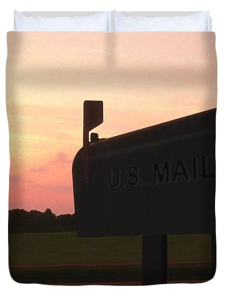 The Mail Of Old Duvet Cover by Mike McGlothlen