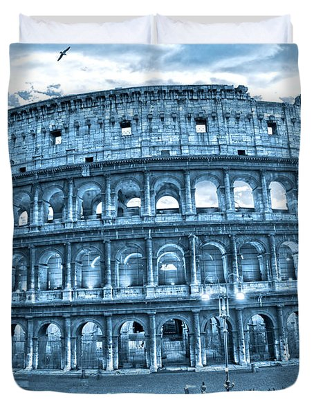 Duvet Cover featuring the photograph The Majestic Coliseum by Luciano Mortula