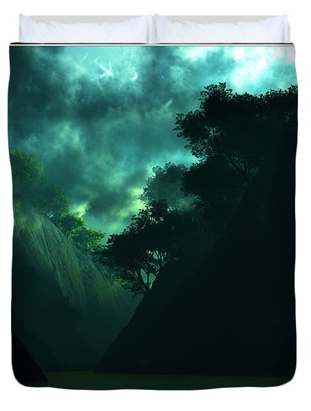 Duvet Cover featuring the digital art The Majesty... by Tim Fillingim