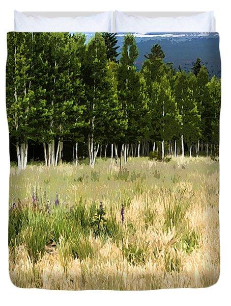 The Meadow Digital Art Duvet Cover by Phyllis Denton