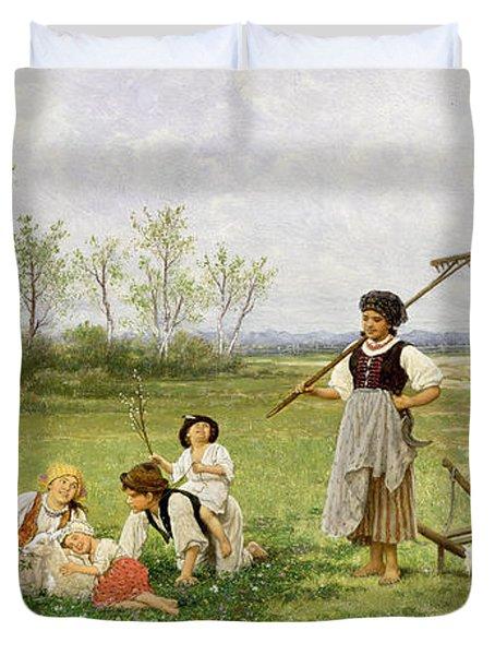 The Midday Rest Duvet Cover by Franciszek Streitt