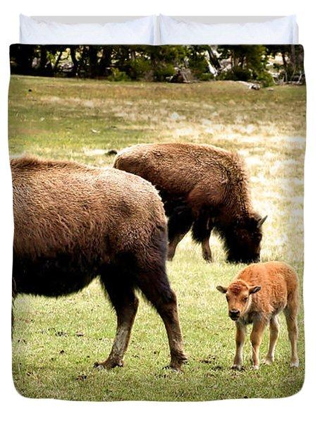The Mighty Bison Duvet Cover by Ellen Heaverlo