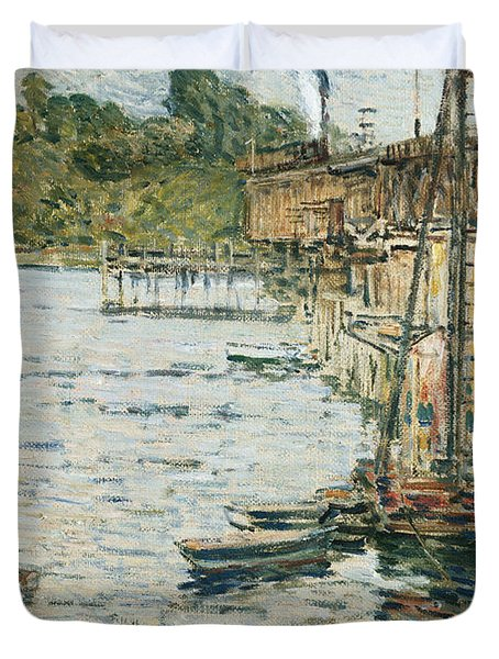 The Mill Pond Duvet Cover by Childe Hassam