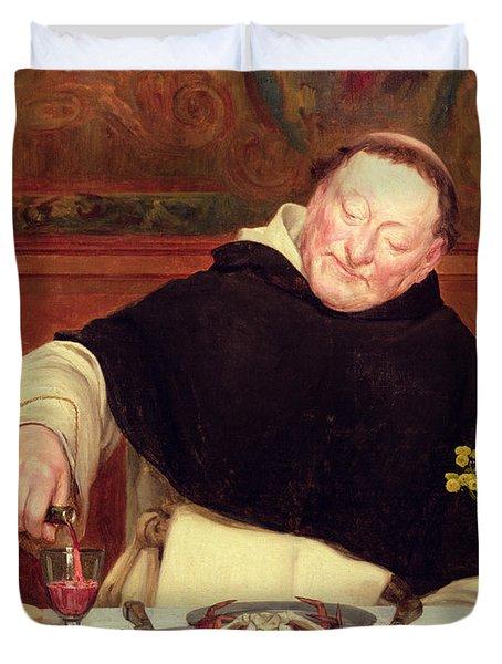 The Monk's Repast Duvet Cover by Walter Dendy Sadler