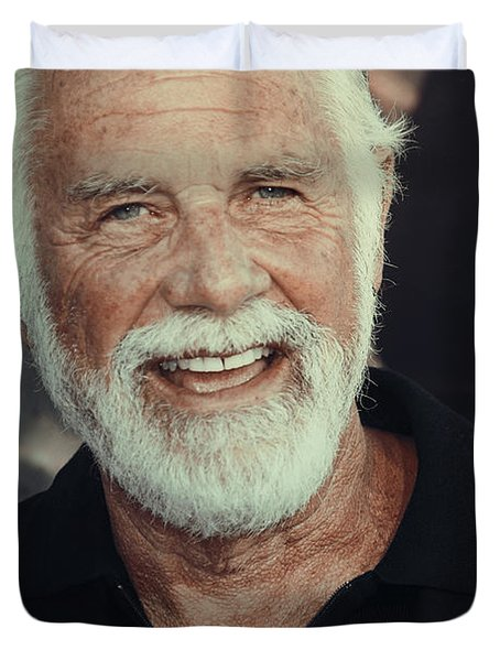 The Most Interesting Man In The World Duvet Cover by Nina Prommer