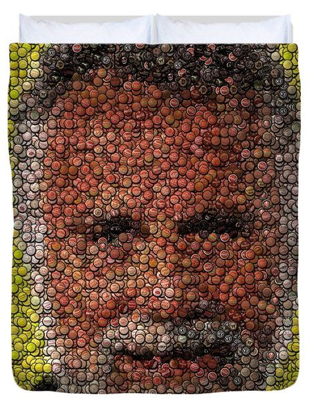 The Most Interesting Mosaic In The World Duvet Cover by Paul Van Scott