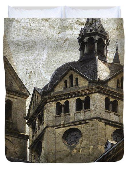 The Munsterkerk Roermond Duvet Cover by Mary Machare