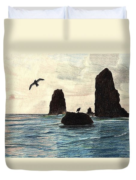 The Needles Duvet Cover by Wendy McKennon