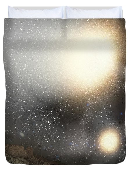 The Night Sky As Seen Duvet Cover by Stocktrek Images