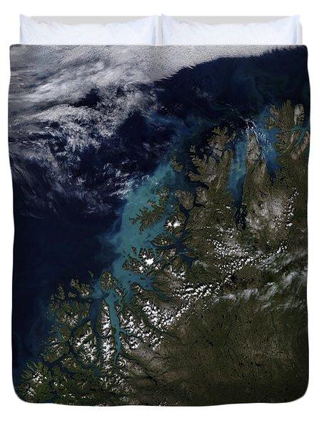The Norwegian Sea Duvet Cover by Stocktrek Images