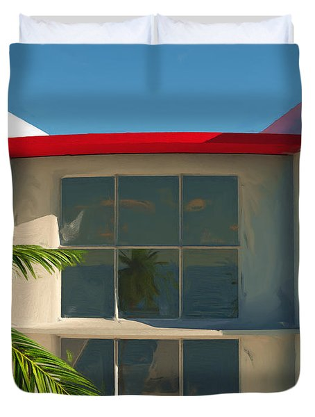 The Old Bay House Duvet Cover by Richard Rizzo