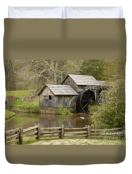 The Old Grist Mill Duvet Cover