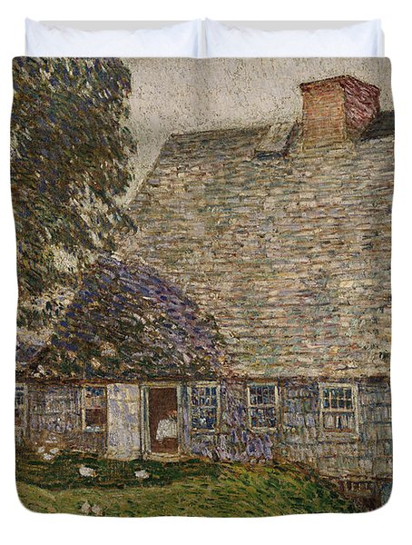 The Old Mulford House Duvet Cover by Childe Hassam