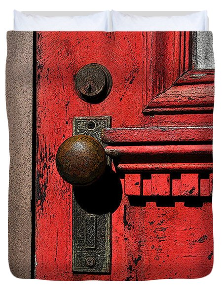 The Old Red Door Duvet Cover by David Lee Thompson