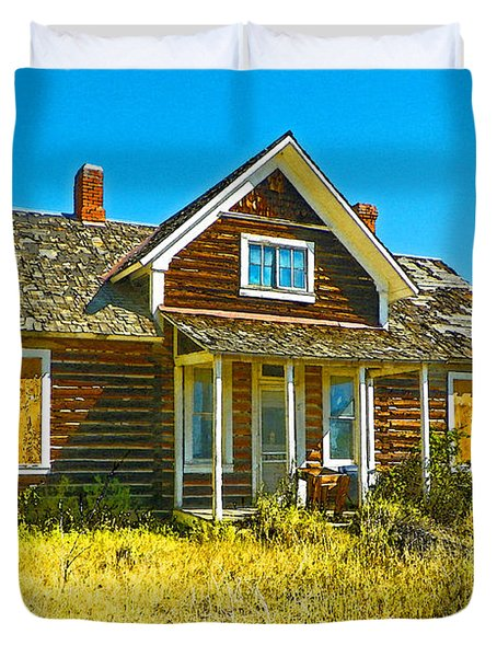 The Old School House Duvet Cover by Lenore Senior and Dawn Senior-Trask