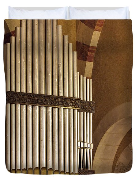 the Organ Augusta Victoria Jerusalem Duvet Cover