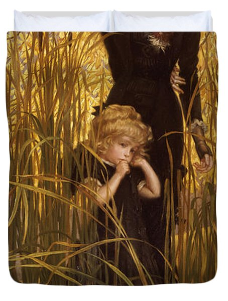 The Orphan Duvet Cover by James Jacques Joseph Tissot