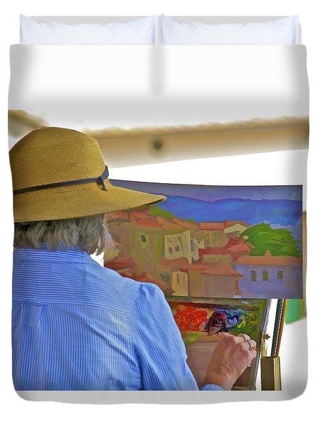 The Painter Duvet Cover
