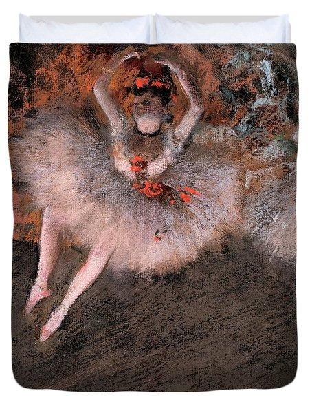 The Pas Battu Duvet Cover by Edgar Degas