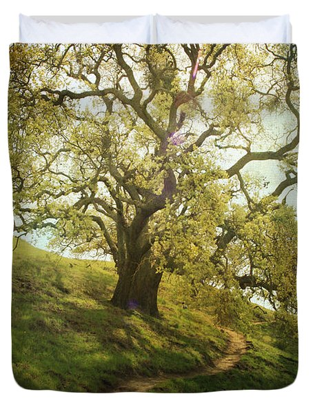 The Path To Brighter Days Duvet Cover by Laurie Search