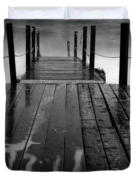 The Pier...protaras Duvet Cover by Stelios Kleanthous