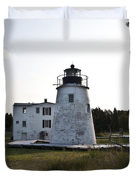 The Piney Point Lighthouse Duvet Cover