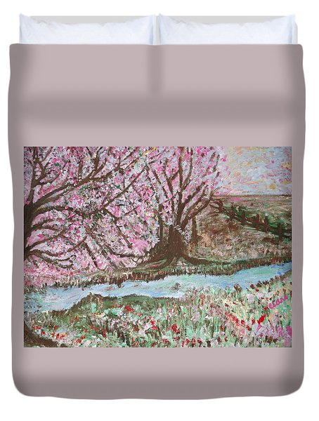 The Pink Tree Duvet Cover