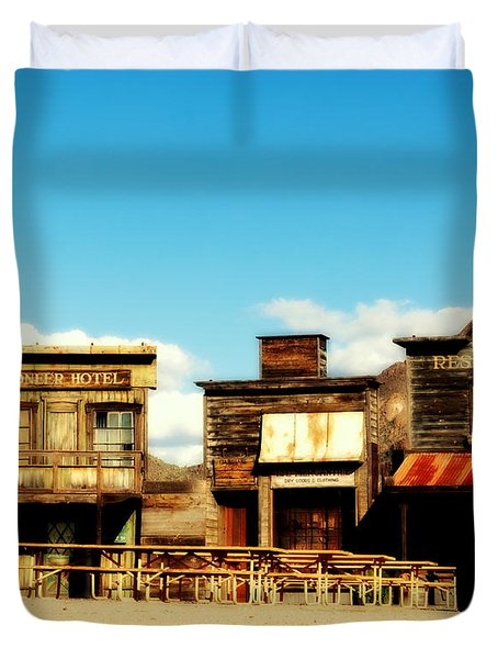 The Pioneer Hotel Old Tuscon Arizona Duvet Cover by Susanne Van Hulst