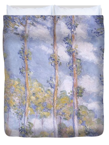 The Poplars Duvet Cover by Claude Monet