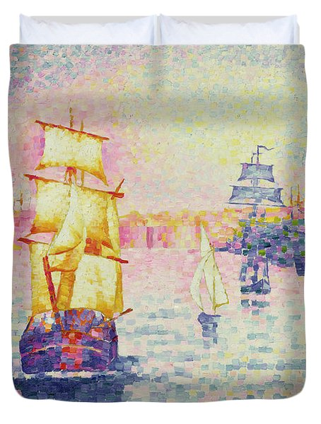 The Port Of Marseilles Duvet Cover