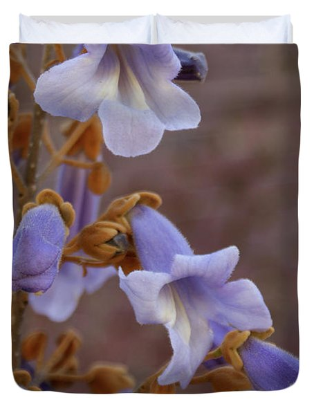 Duvet Cover featuring the photograph The Princess Flower by Paul Mashburn