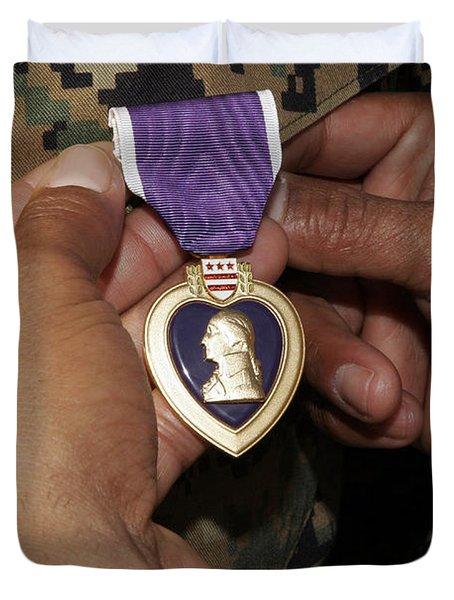 The Purple Heart Award Duvet Cover by Stocktrek Images