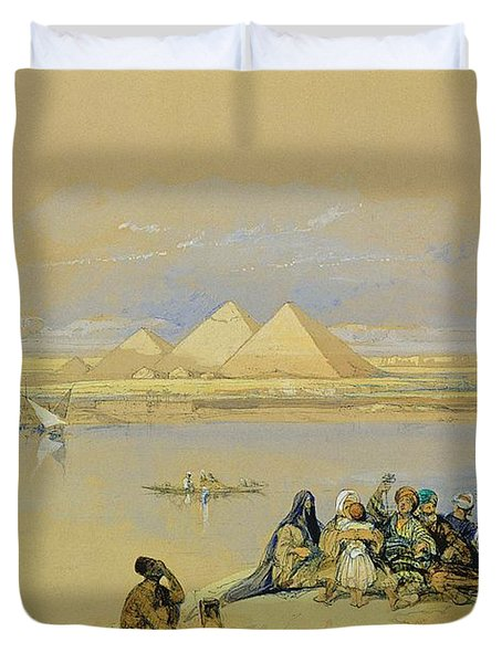 The Pyramids At Giza Near Cairo Duvet Cover