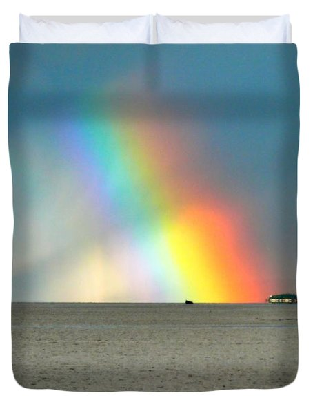 The Rainbow's Edge Duvet Cover