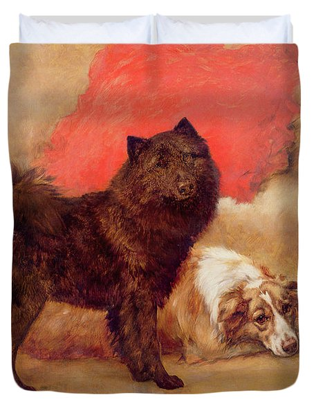 The Red Cushion Duvet Cover by Maud Earl