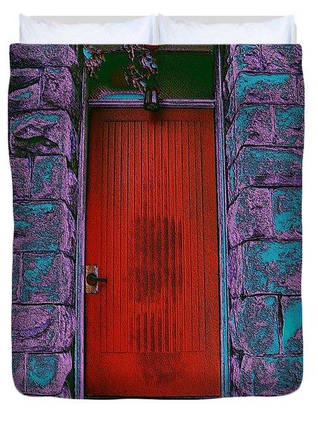 The Red Door Duvet Cover by Tim Allen