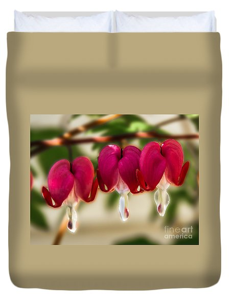The Red Heart Duvet Cover by Robert Bales