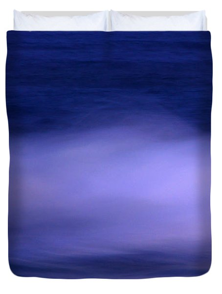 The Red Moon And The Sea Duvet Cover