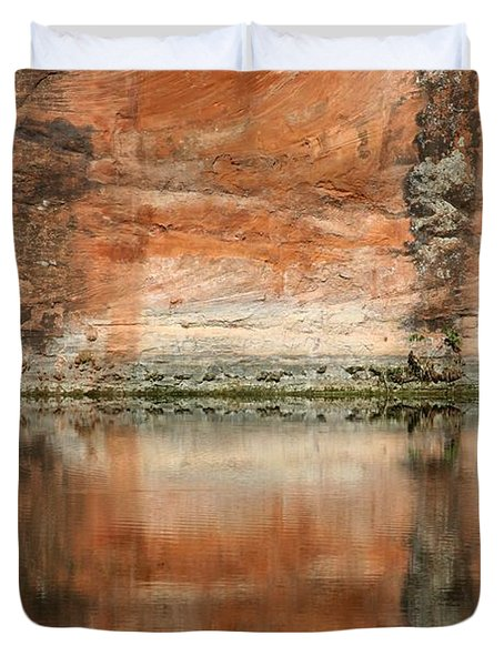 The Reflecting Wall Duvet Cover by Nola Lee Kelsey