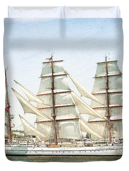 Duvet Cover featuring the photograph The Sagres by Verena Matthew