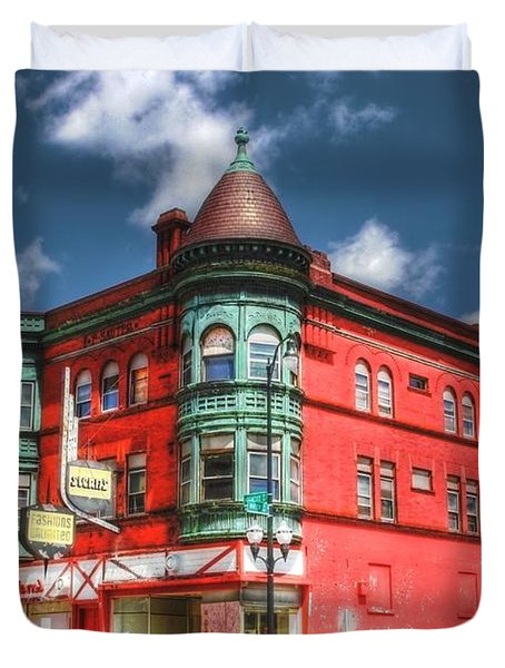 The Sauter Building Duvet Cover by Dan Stone