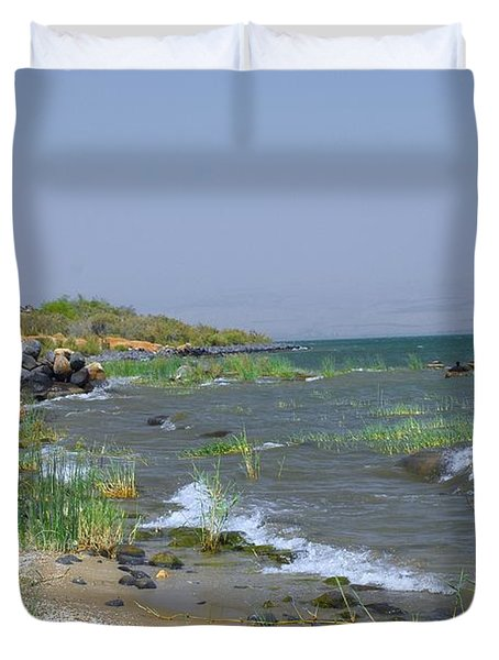 The Sea Of Galilee Duvet Cover by Eva Kaufman