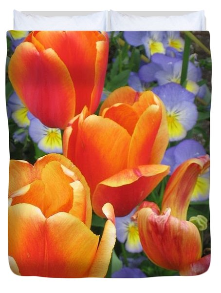 Duvet Cover featuring the photograph The Secret Life Of Tulips - 2 by Rory Sagner