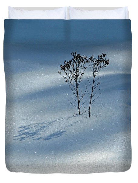 Duvet Cover featuring the photograph The Shadow Of Loneliness by Ausra Huntington nee Paulauskaite