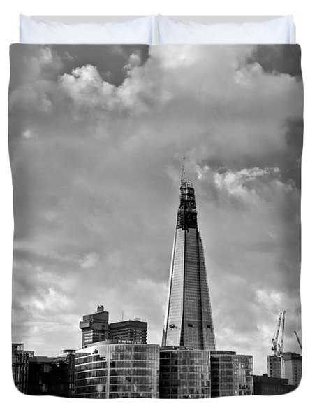 The Shard London Black And White Duvet Cover