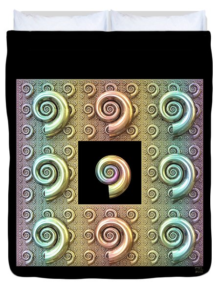 The Shell Duvet Cover by Manny Lorenzo