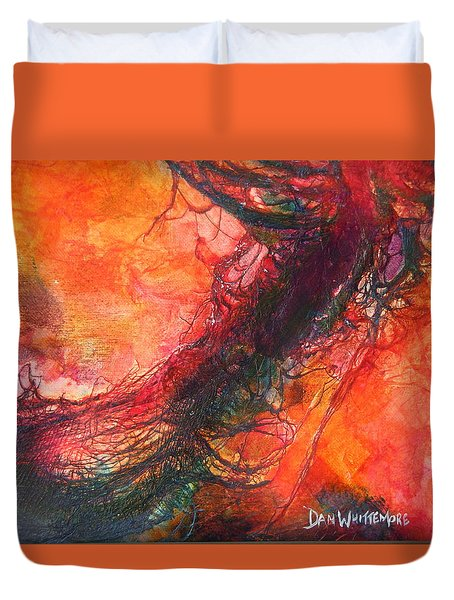 Duvet Cover featuring the painting The Singer by Dan Whittemore